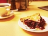 Coffee and cherry pie