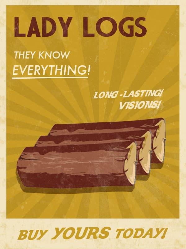 Lady Logs Twin Peaks