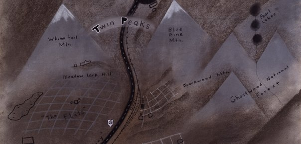 David Lynch Draws Twin Peaks Map