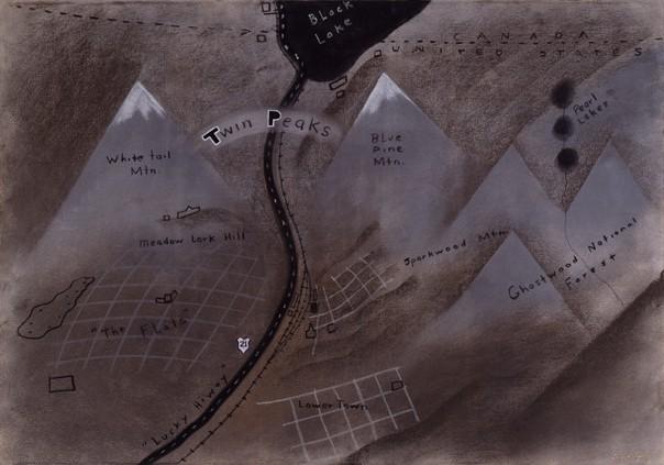Twin Peaks Map by David Lynch