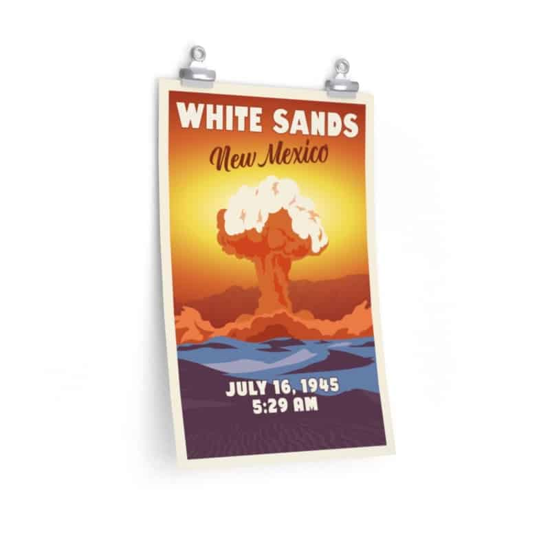 Trinity Test commemorative poster (White Sands, New Mexico, July 16, 1945)