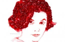 Audrey Horne - Noah Scalin (cherry pie portrait)