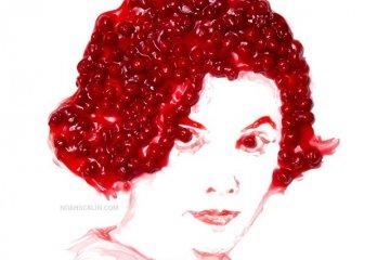 Audrey Horne - Noah Scalin (cherry pie portrait)