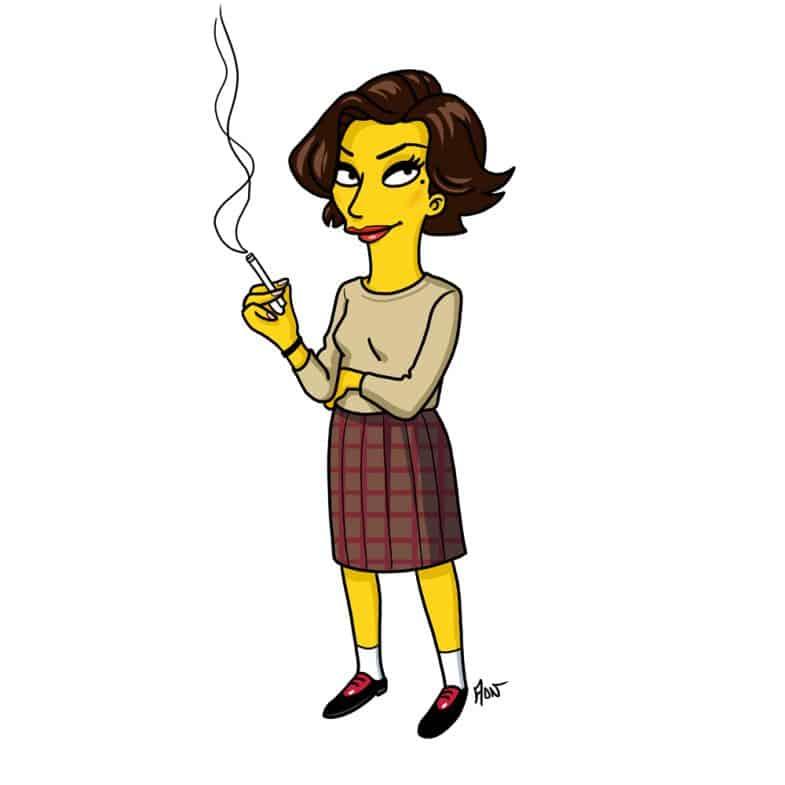 Audrey Horne Simpsonized by ADN