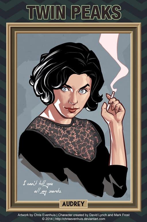 Audrey Horne by Chris Evenhuis