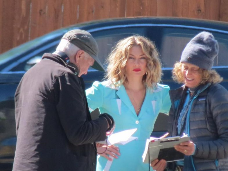 Behind the scenes - Mädchen Amick & David Lynch & Cori Glazer