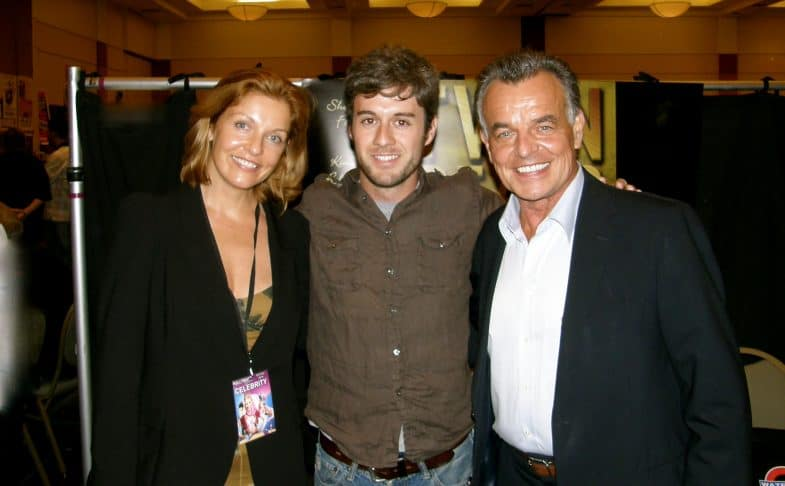 Brad Dukes with Sheryl Lee and Ray Wise in 2010