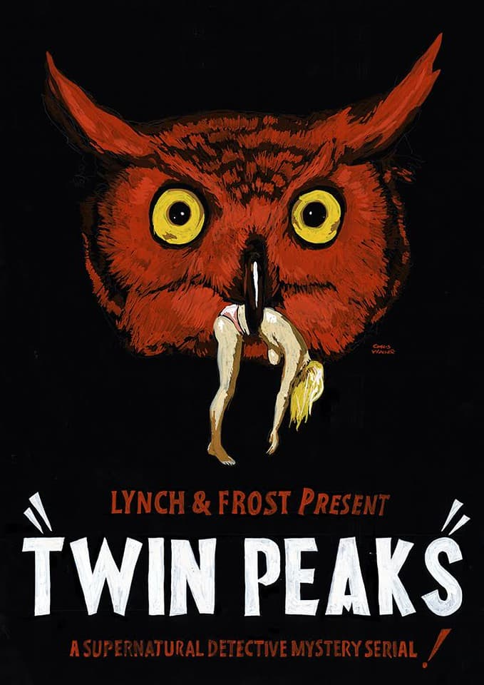 Chris Walker - Twin Peaks 'Red Owl' Advertising Poster