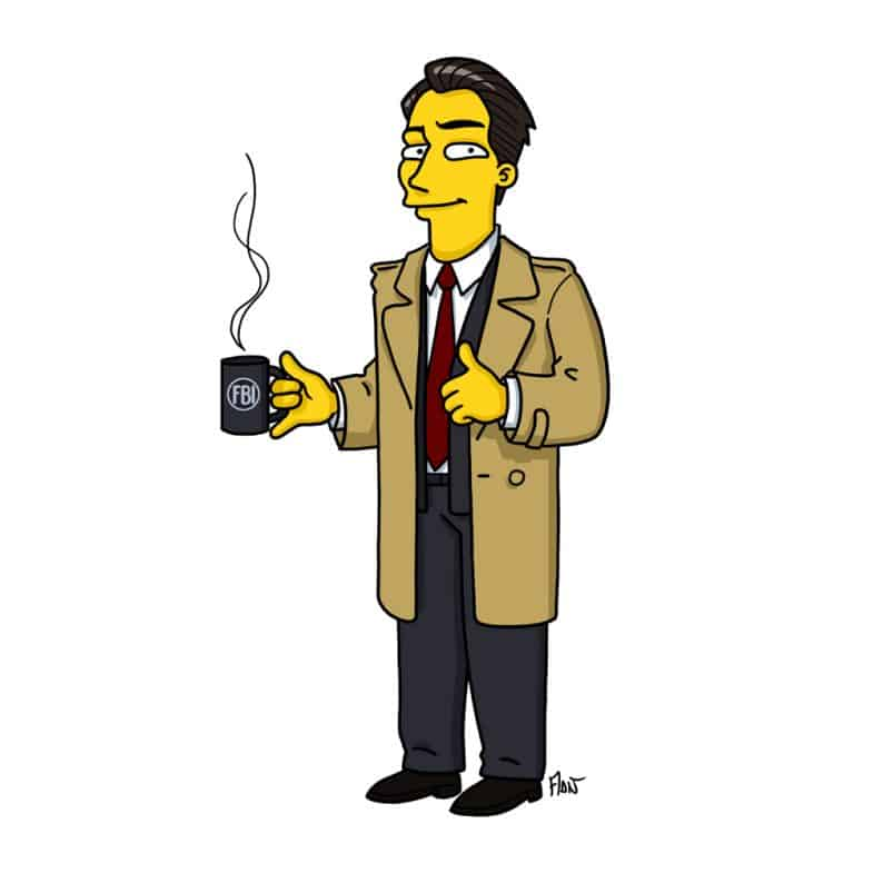 Dale Cooper Simpsonized by ADN