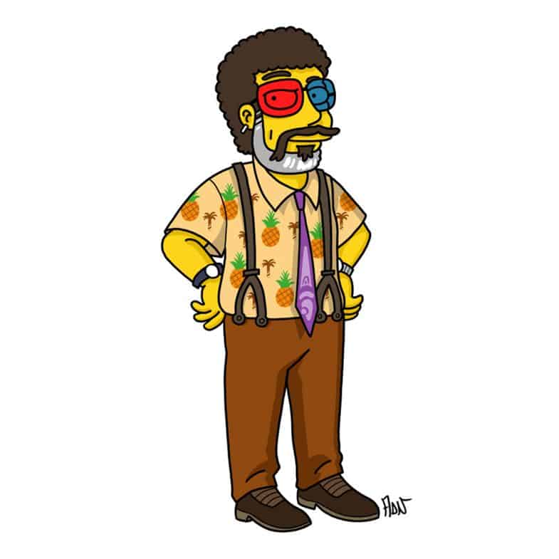 Dr. Lawrence Jacoby Simpsonized by ADN