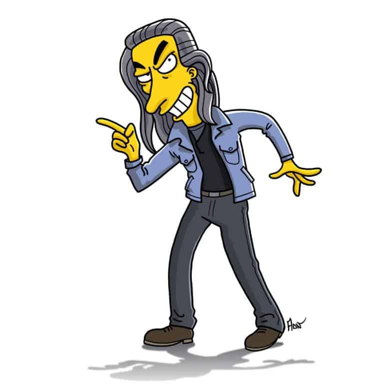 Killer BOB Simpsonized by ADN