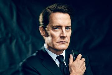 Kyle MacLachlan as Special Agent Dale Cooper for Entertainment Weekly