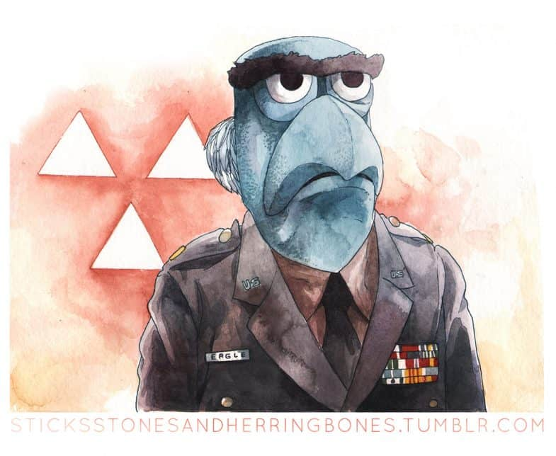 Major Garland the Eagle (Sam the Eagle as a Twin Peaks Muppet)