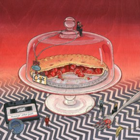 Happy National Pie Day! Here's A Cherry Pie Dome Surrounded By Miniature Twin Peaks Characters