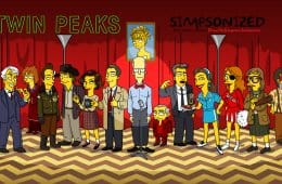 Twin Peaks Simpsonized by ADN