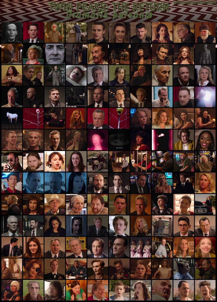 New Twin Peaks characters collage