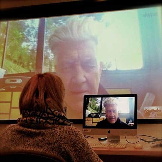 David Lynch gives advice to filmmaker Agnes Baginska over Skype