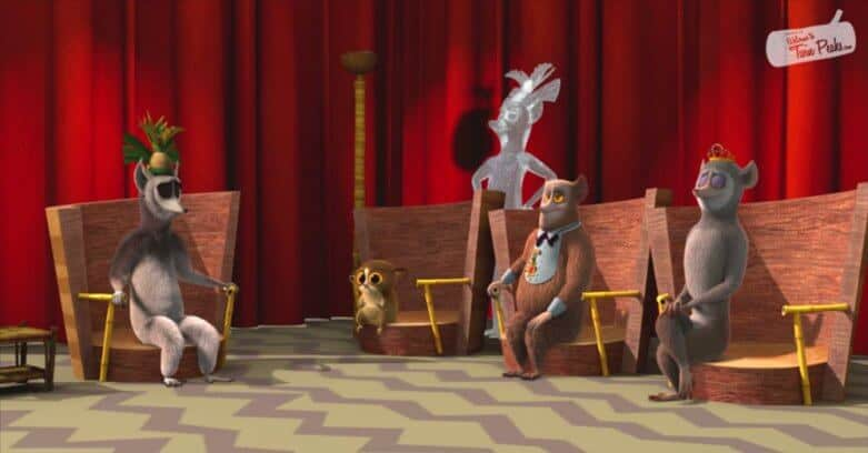 Twin Peaks Red Room reference in All Hail King Julien (Dreamworks/Netflix)