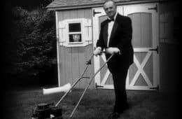 Angelo Badalamenti & his lawn mower