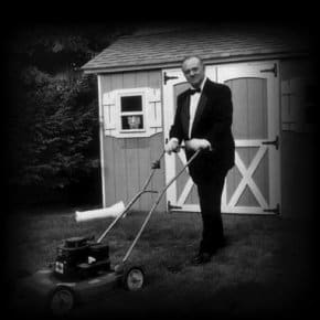 Angelo Badalamenti & his lawn mower