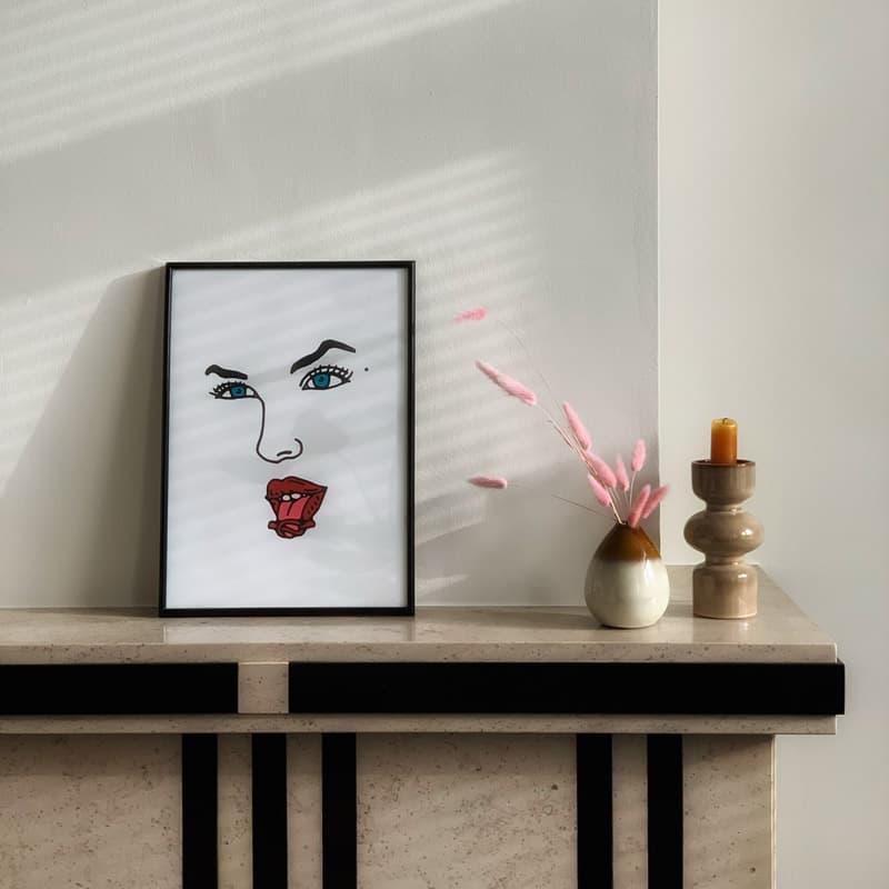 World's Luckiest Cherry Stem (Audrey Horne Art Print)