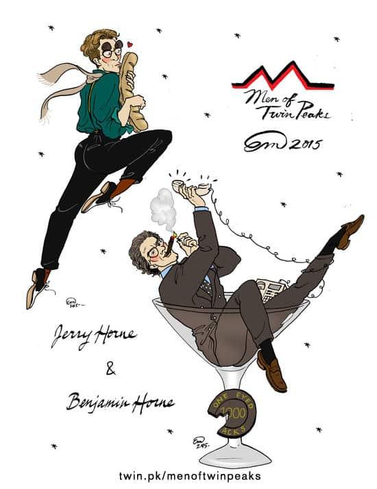 Ben & Jerry Horne pin-up