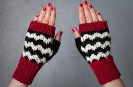 Black Lodge fingerless gloves