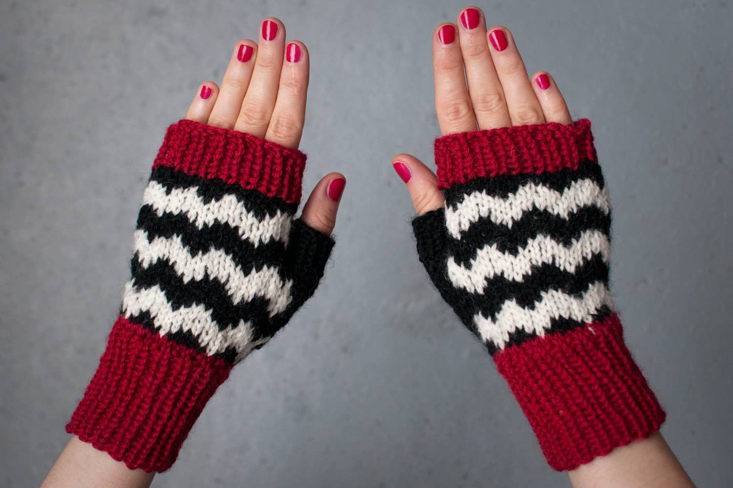 Black Lodge Mitts Knitting Pattern To Make Your Own Or