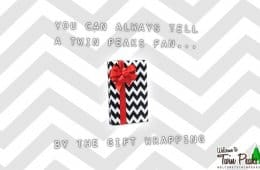 Twin Peaks Black Lodge gift wrapping paper