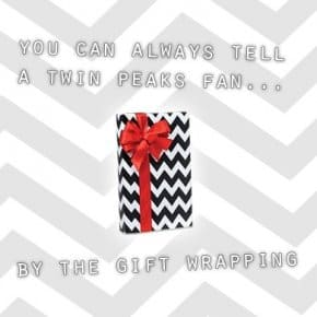 Wrapped In Zig Zag: Print Your Own Black Lodge Gift Wrap