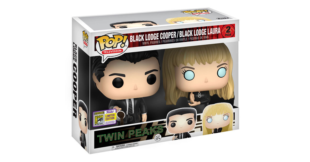 New Twin Peaks Funko Pop 2 Pack With Black Lodge Cooper