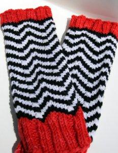 Fingerless Black Lodge gloves