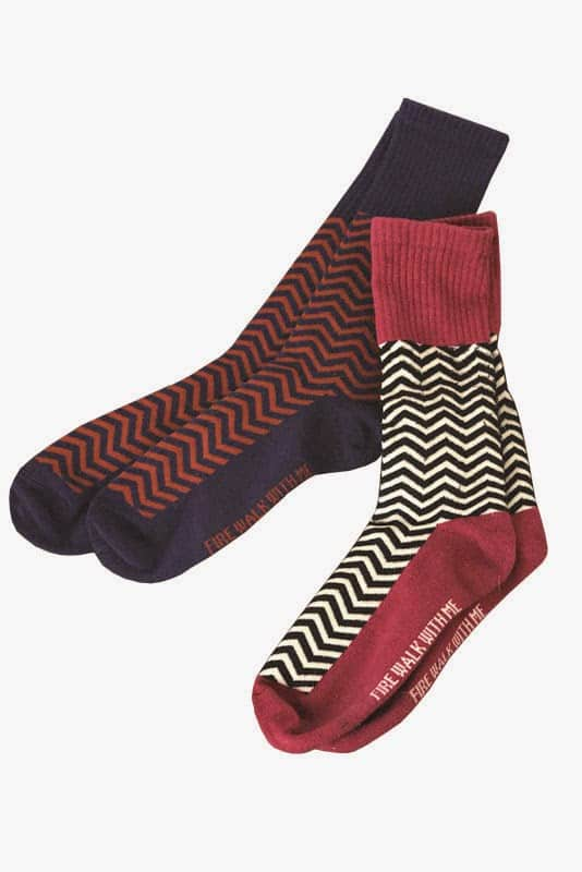 Black Weirdos Twin Peaks collection Black Lodge sox
