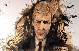 Carolina Maggio's David Lynch coffee portrait