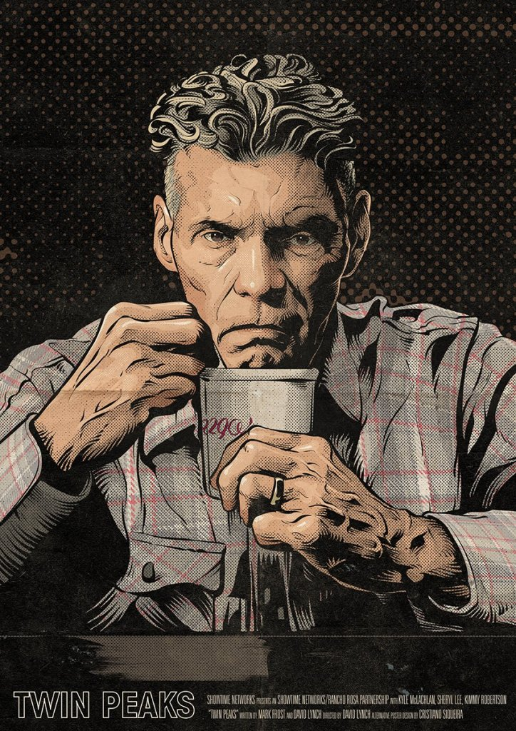 Twin Peaks Part 13 poster (Big Ed Hurley) by Cristiano Siqueira