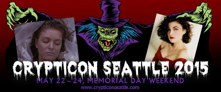 Sheryl Lee and Sherilyn Fenn at Crypticon Seattle 2015