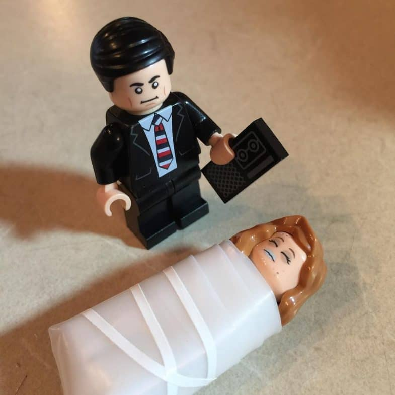 Twin Peaks LEGO: She's a Laura Palmer minifig. Wrapped in plastic.