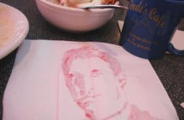 Dale Cooper painted with Cherry Pie