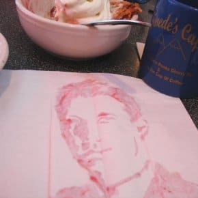 Happy Cherry Pie Day! Dale Cooper Painted With The Double R's Cherry Pie