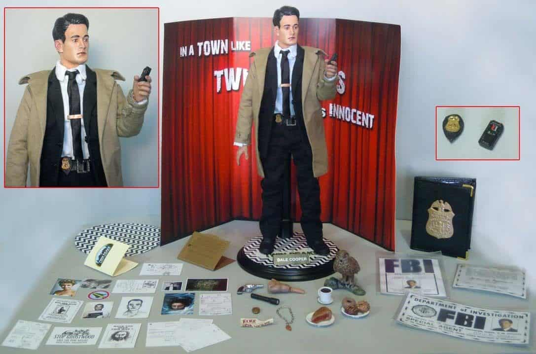 Miniature Dale Cooper Figure With Damn Fine Accessories