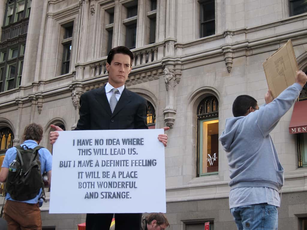 Dale Cooper at Occupy Wall Street, Zuccotti Park, New York