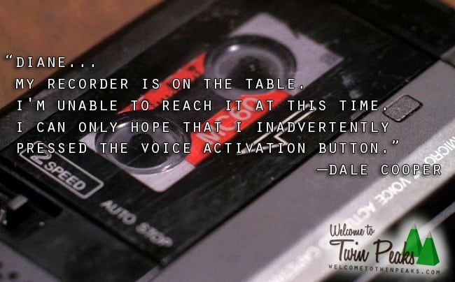 Twin Peaks Pie Quote: Here's Dale Cooper's Original Tape Recorder Prop (Photo
