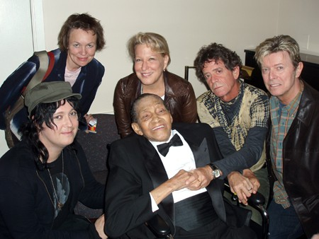 Antony (Antony & The Johnsons), Laurie Anderson (Lou's wife), Bette Midler, Jimmy Scott, Lou Reed, & David Bowie
