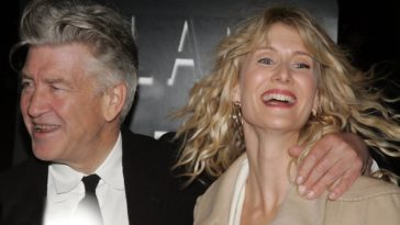 David Lynch and Laura Dern at the Inland Empire premiere in 2006