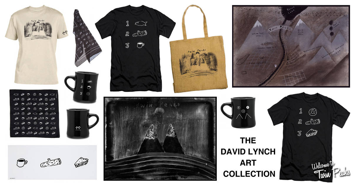 Directed By David Lynch Tote Bag With Portrait and Twin Peaks Style Font