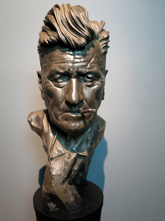 David Lynch bust by Carl Lyon