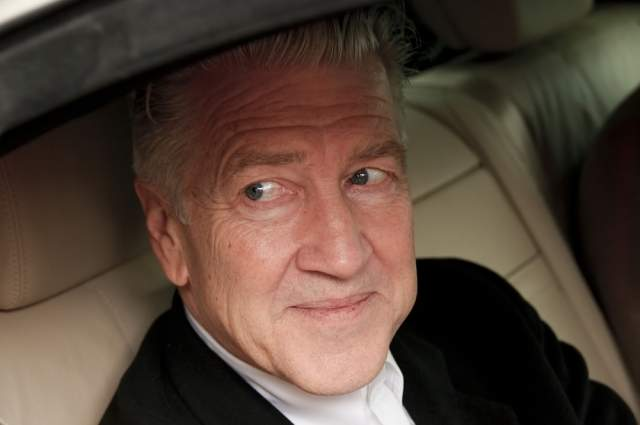 David Lynch in a car