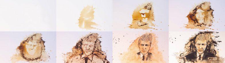 David Lynch coffee spill portrait