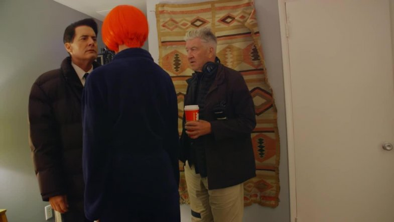 David Lynch directs Kyle MacLachlan & Laura Dern in Twin Peaks: Part 18
