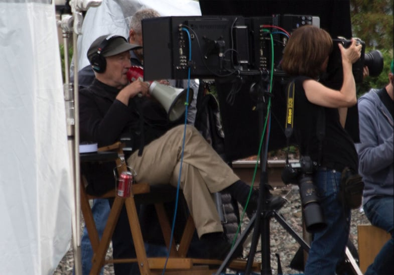 David Lynch directing new episodes of Twin Peaks in North Bend (Photo: Travis Blue)